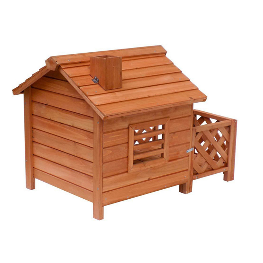 factory cheap sell waterproof large wooden fence dog kennel buildings