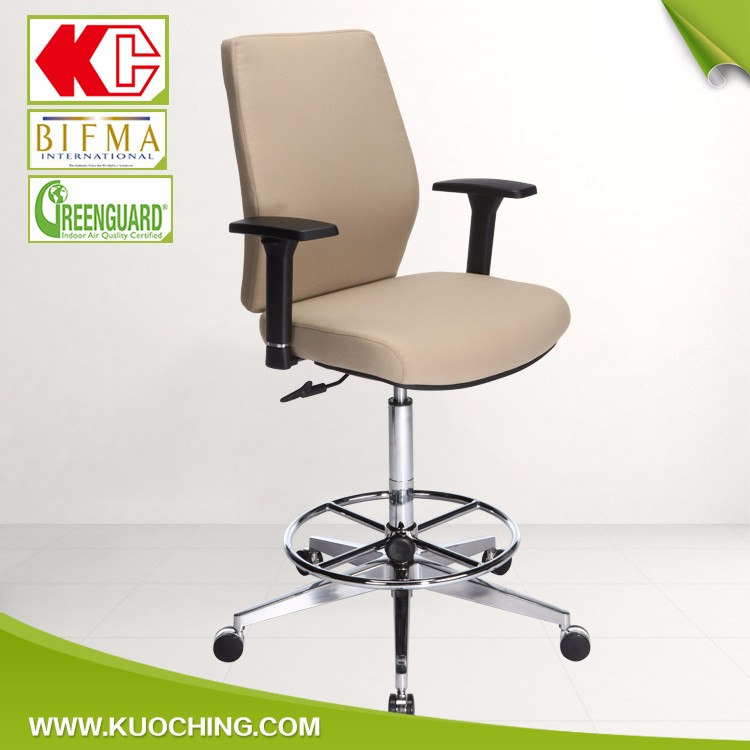BIFMA Standard Adjustable High Office Desk Chair Stool