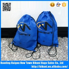 420D polyester shopping drawstring backpack bag from China factory wholesale price