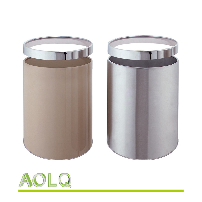 Electronic waste bins in stainless steel, industrial steel waste bin, decorative donation bins