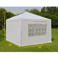 Wedding Party Tent Outdoor Camping 10'x10' Easy Set Gazebo BBQ Pavilion Canopy Cater Events