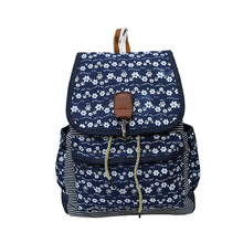 Personalized fabric pattern school cool kids canvas backpack