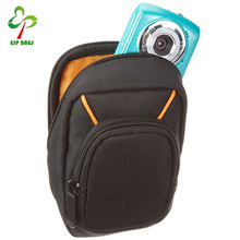 Compact nylon digital video camera case, OEM camera bag insert with shoulder strap