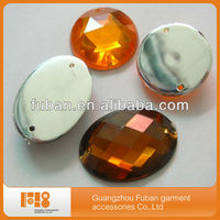 non hot fix acrylic rhinestone gem,rhinestone acrylic button wholesale