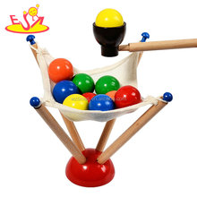 Educational Exercise Hand Flexibility Toys Wooden Ball Game For Kids W01B079