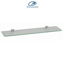 Factory direct wall mounted glass and zinc alloy home bathroom shelves