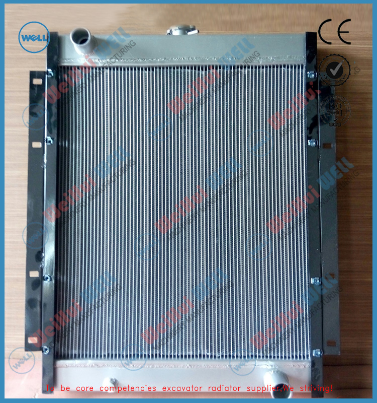 China factoryAluminum Excavator Radiator/Oilcooler E200B for cat excavator radiator