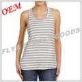 2017 fashion custom casual womens stripe singlet