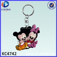 Promotional Cartoon Mickey Mouse PVC Keyring