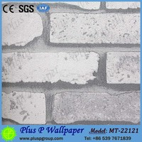 3d stone white brick wallpaper for baby room walls decoration