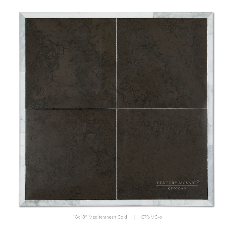 Polished Chocolate Brown Mediterranean Grey Tile Limestone Slab Sale