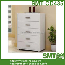 Modern white 5 drawer chest of drawer panel home furniture
