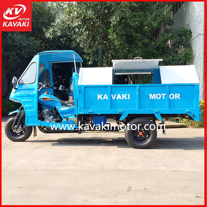 200cc Garbage tricycle dumper 3 wheel car/ Sanitation Tricycle for Garbage 2014