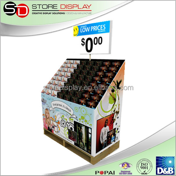 corrugated cardboard pallet display stand wholesale Mobile phone Floor Tiles Display Racks China Guangdong