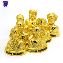Paris custom gold metal figure with king head design