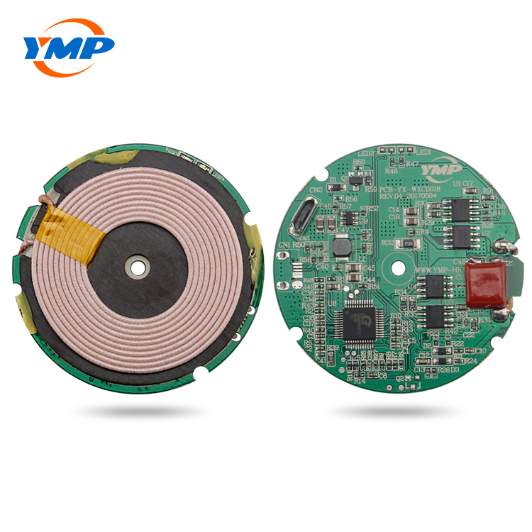 Custom 7.5W 10W quick qi wireless charger module <strong>pcb</strong> and pcba for hotel and furniture