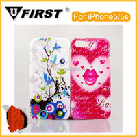 New design butterfly and flowers pattern mobile phone cover for iPhone 5/5s ase