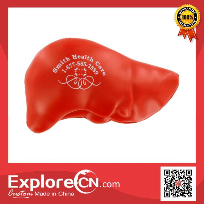 10 Years Production Custom Printed Kidney Shape Stress Ball