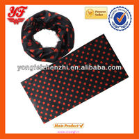 Wonderful red and black dot designed magic tube scarf