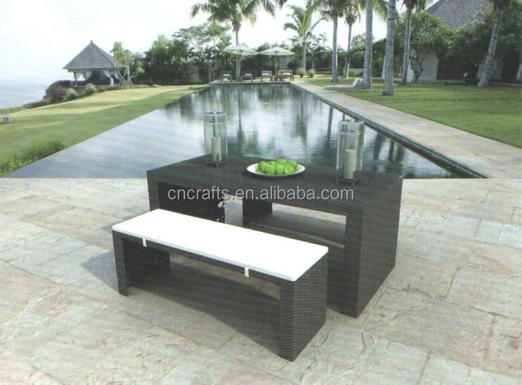 Outdaoor rattan funiture 3 pcs wicker dining set (LD-HC0134)