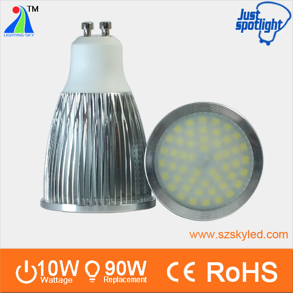 wide beam angle 120 degree high power 9w 10w 1000lm gu 10 led spot 10w 2700k