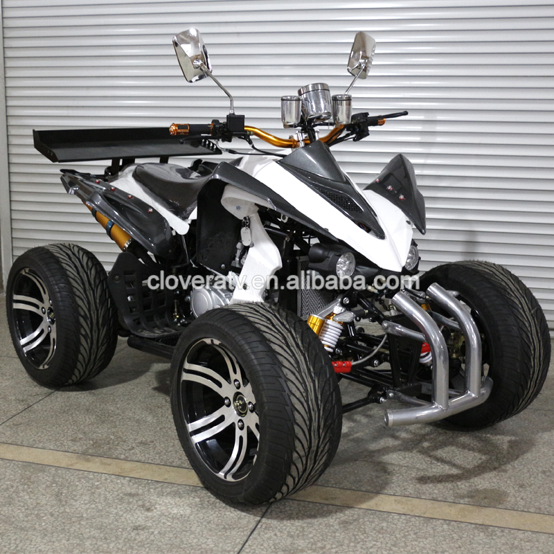 Manual Clutch Kawasaki Racing Quad Bike 250cc Street Racing ATV