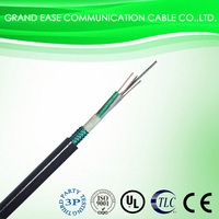 outdoor single mode fiber optic cable GYTS 24 cores