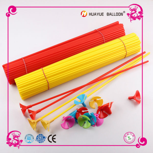 balloon cups sticks with plastic new material 42cm