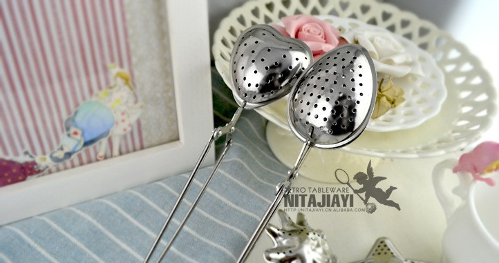 Unique Sun/Star/Heart Shaped Stainless Steel Tea Strainer/Infuser with Handle