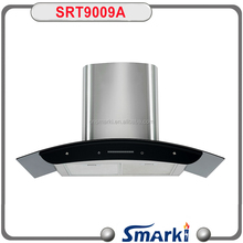 2017 best design 90cm Wall mounted Slide control Chimney Hood SRT9009A