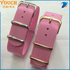 Popular rose gold buckle nylon watch band 20mm Solid Pink natostraps watch stock supply traser nato strap