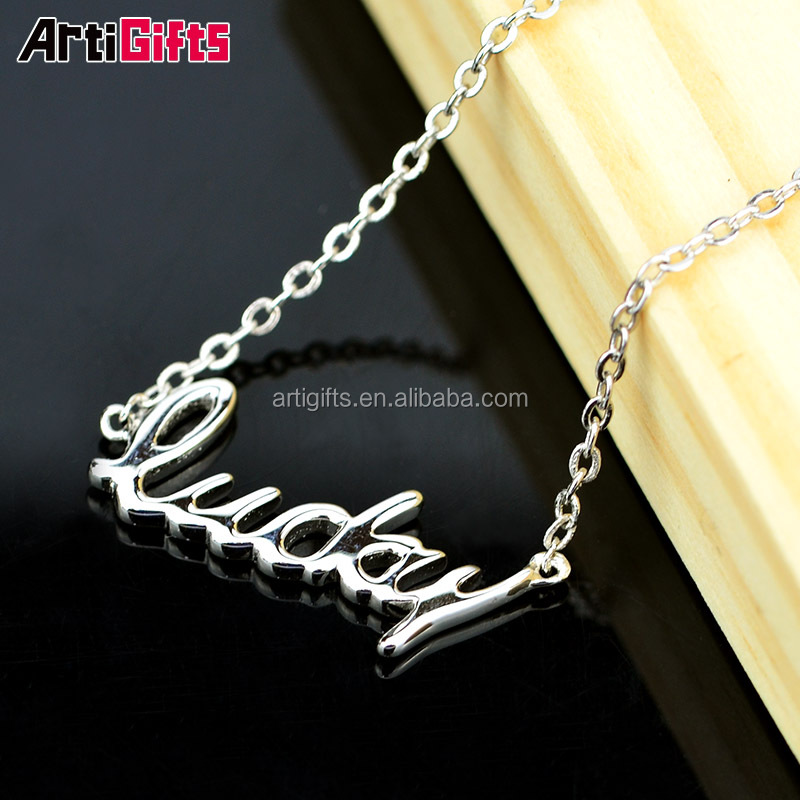 Fancy Necklace Design Custom Logo Letter Pendant Letter Necklace