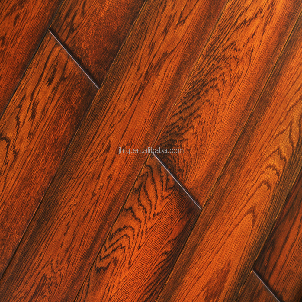 Oak Smoked Engineered Solid Wood Flooring Selected Oak Versailles