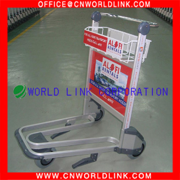 250kg 3 Wheels Aluminum Luggage Airport Hand Trollies