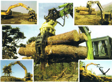 Hydraulic Log Rotating Grapple for 7-11ton Excavator