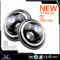 "DOT approved 4x4 led headlight 7"" for offroad 7"" round led headlight led head light"