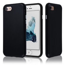 C&T Black Hybrid Dual-Layer Soft TPU Bumper Hard Shell Cover Protective Case for iPhone 7