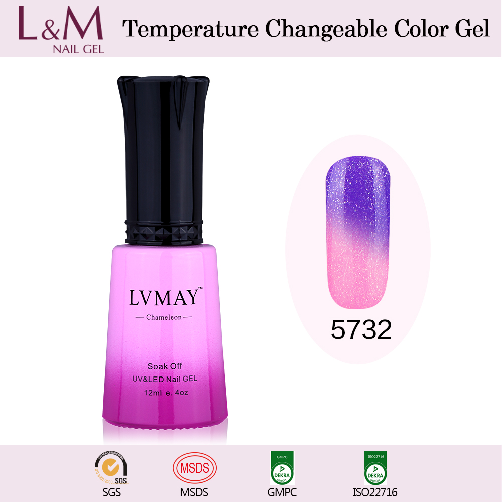 Newest Lvmay Temperature Change Color nail polish gel lacquer