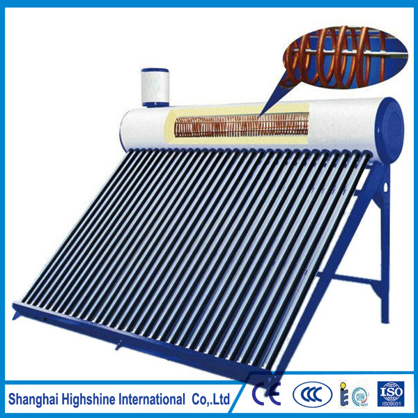 Cheap price pre-heated solar energy product Pre-heated Solar Water Heater with Copper Coil