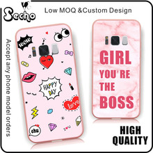 2017 Pink Rang Custom Printing PC Cell Phone Case For samsung galaxy s8 case For S7 edge Case