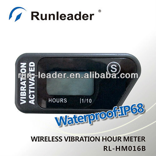 Waterproof Wireless Vibration Hour Meter for atv motocross motorcycle pit bike tractor truck dirt quad bike marine jet ski