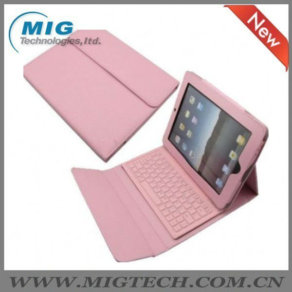 High end Leather Case for Ipad 3 4 5 with bluebooth keyboard, for ipad case