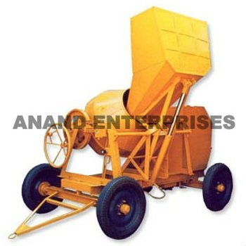Concrete Mixer with Hydraulically Operated Hopper