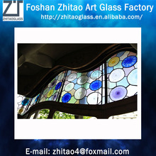 Popular Tiffany blue style stained glass window