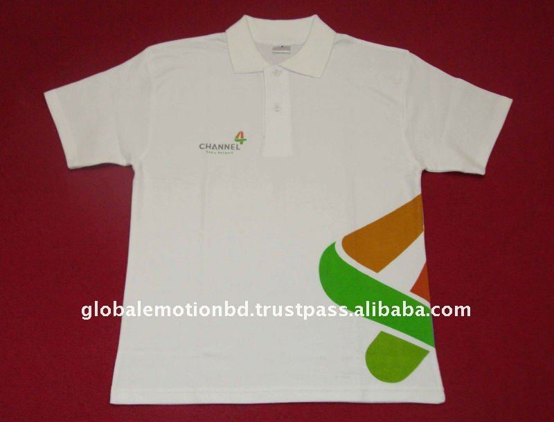 2012 Promotional Polo t-shirt with printed company logo