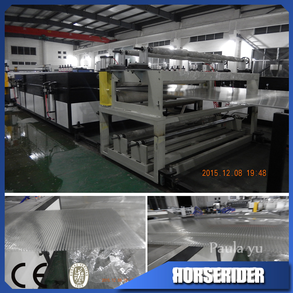pc sun board pc sheet machine/pc sheet extrusion line/PP hollow profile sheet extrusion line