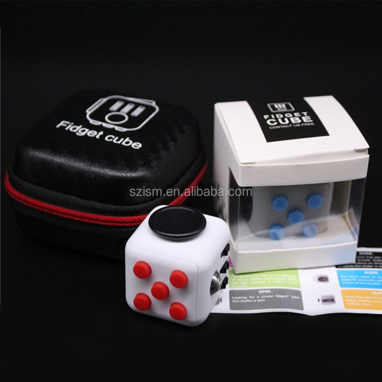 2017 Kickstarter Hottest Item Anti Stress 12 Sides Fidget Cube Newest Fidget Cube Magic Cube