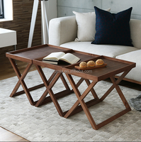 Living room furniture nature wooden side table/end table/coffee table for living room set