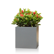 matt gray square oriental flower pots for garden
