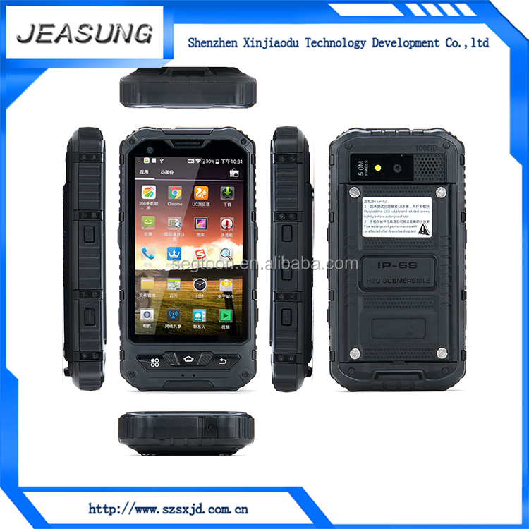 wholesale android 4.4.2 unlocked smart phone dual sim ip68 waterproof rugged phone